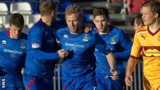 Inverness forward Richie Foran scored to make it 2-1 to Motherwell