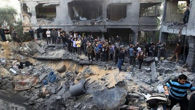 Israeli air strike in Gaza, 18 Nov
