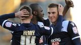 Millwall players celebrate