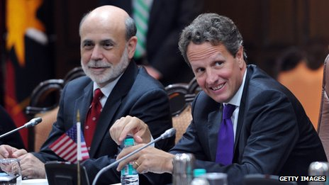 Ben Bernanke and Tim Geithner