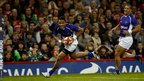 Samoa's Fa'atoina Autagavaia scores a try with barely three minutes on the clock in Wales' second Test match of the autumn series.