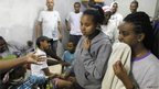 Israelis in a bomb shelter in Ashkelon (18 Nov 2012)