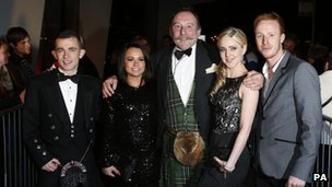 Paul Brannigan, Jasmin Riggins, Charlie MacLean, Siobhan Reilly and William Ruane arrive at the BAFTA Scotland Awards