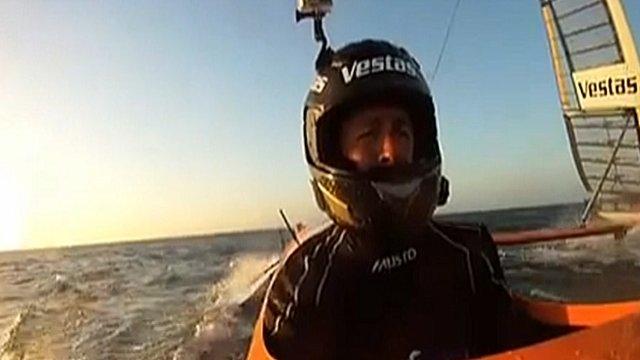 Paul Larsen sailing