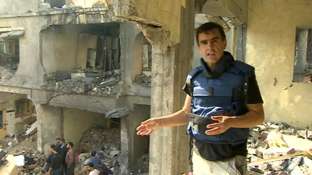 The BBC's Wyre Davies reports from Gaza City