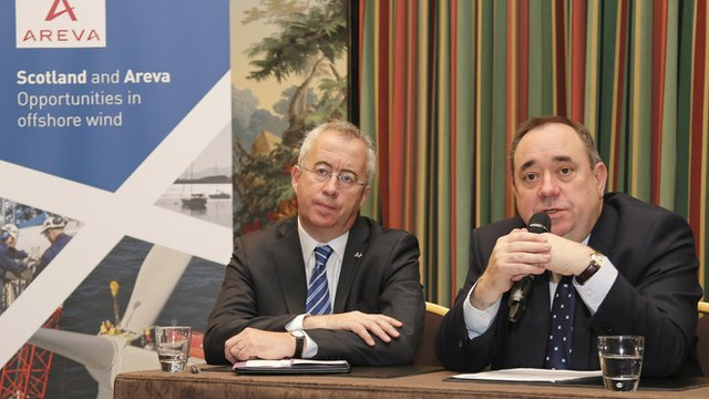 Areva chief executive officer Luc Oursel and First Minister Alex Salmond