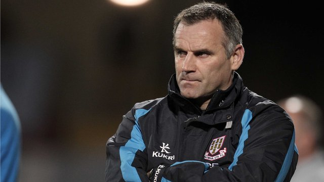 Ballymena manager Glenn Ferguson 