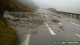 Debris on the A83
