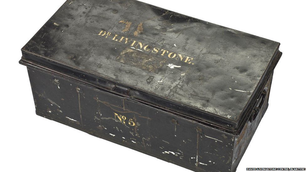 This is one of a number of secure trunks packed with stores supplies