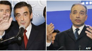 Francois Fillon (left) and Jean-Francois Cope (right)