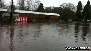 Flooding in Aberfoyle
