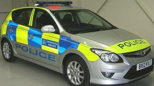 New Battenburg design Met Police car