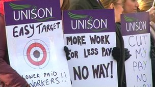 Unison strikers