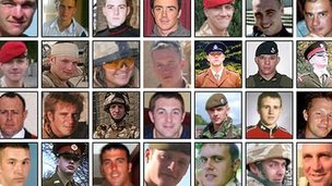 military casualties facewall