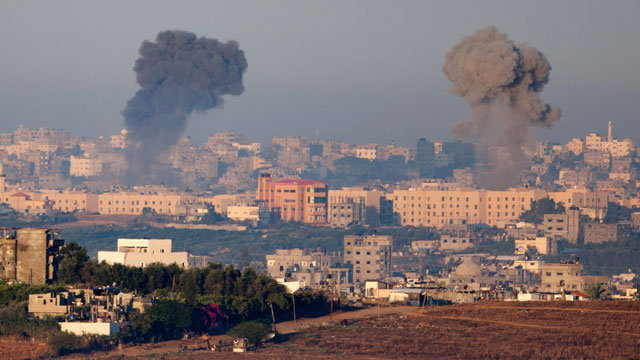Bombardment in Gaza