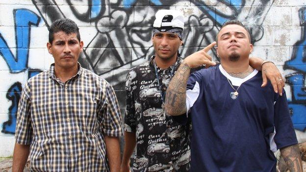Oscar Iyala Castillo (left) Ismael Guererro (centre) Dany Mendez (right)