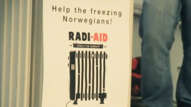 "Africa for Norway is a fictional appeal video asking Africans to give radiators to the"" freezing Norwegians""."