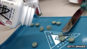 OxyContin is displayed in stock photo 21 August 2001