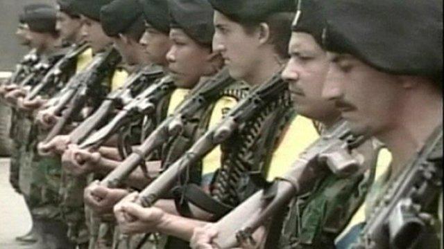 Farc rebels with guns