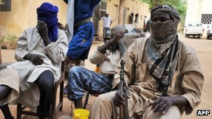 Islamist fighters in northern Mali. File photo