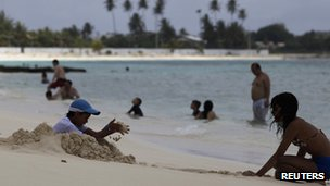 File photo of the beach on San Andres Island 