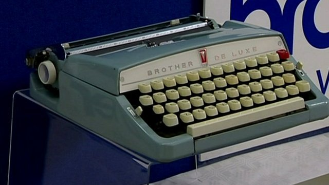 A typewriter