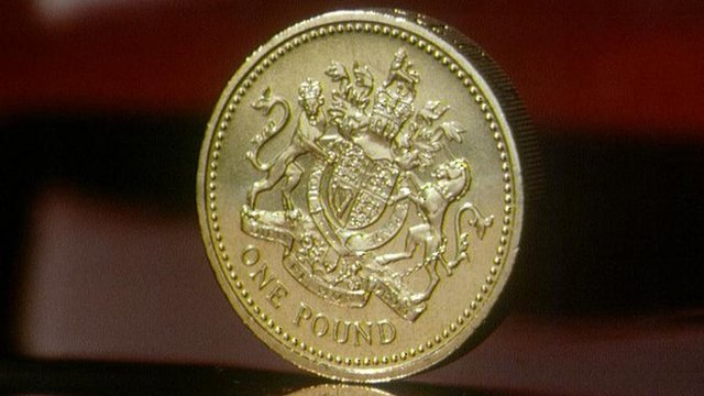 A pound coin