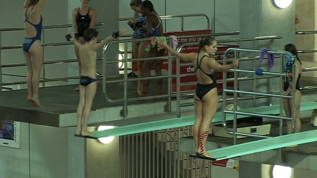 Divers train at Plymouth's Life Centre