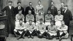 The Ireland football team who played Wales in 1900 at the Oval, Llandudno and lost 2-0 Thomas Parry, Billy Meredith