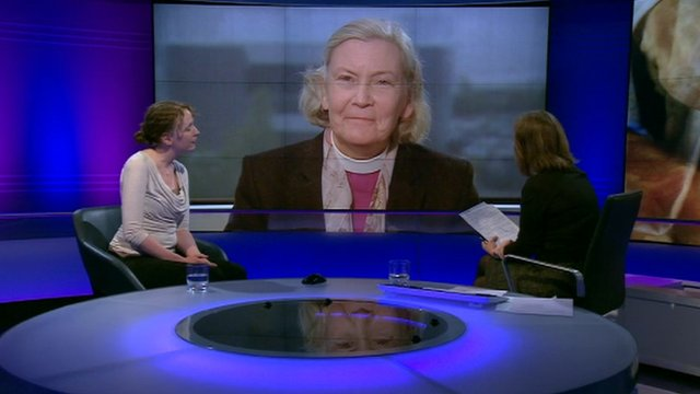 The first ever female Anglican bishop the Right Reverend Victoria Matthews of Christchurch, in New Zealand and the general synod&#039;s youngest woman member Emma Forward