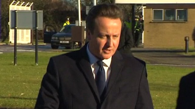 David Cameron in Craigavon, Northern Ireland