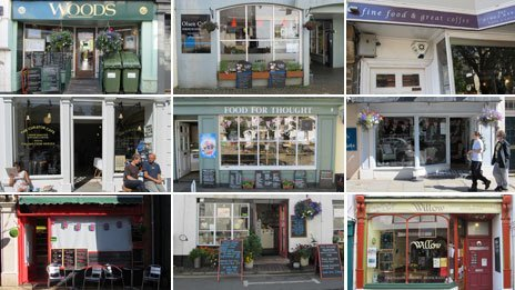 Images of 9 coffee shops in Totnes