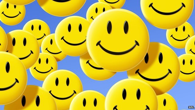 Computer-generated smiley faces