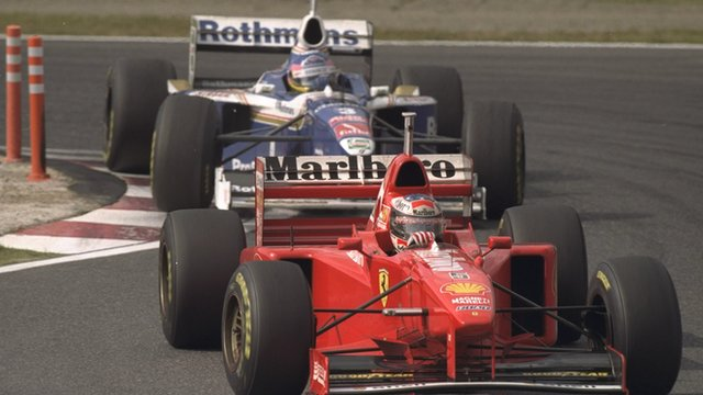 Michael Schumacher and Jacques Villeneuve