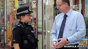 PC on patrol in Norwich