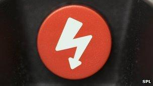 Symbol on defibrillator
