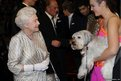 Queen Elizabeth II greets Ashleigh and her performing dog Pudsey