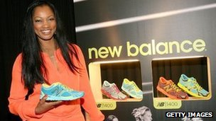 Actress Garcelle Beauvais poses with New Balance