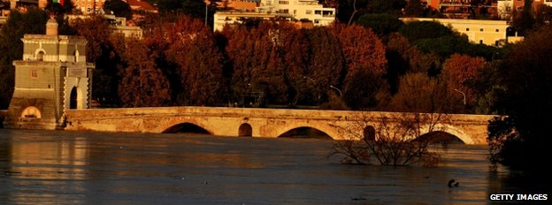 Swollen River Tiber, Rome (Getty Images)