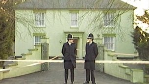 Police outside the former Four Elms care home in Suffolk