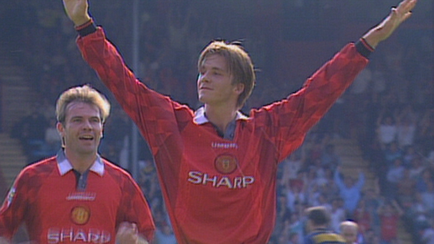 David Beckham wonder goal against Wimbledon