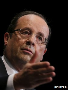 French President Francois Hollande in Paris, 19 November