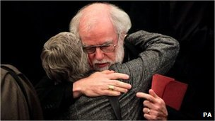 Archbishop Rowan Williams after today's vote