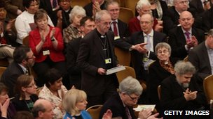Justin Welby about to address the Synod