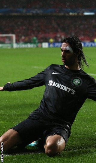 Samaras had equalised for Celtic before half-time in Lisbon
