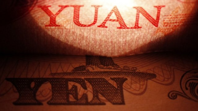 Chinese yuan and Japanese yen currencies