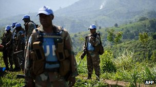 South African Monusco troops in Masisi territory, DRC. June 2012