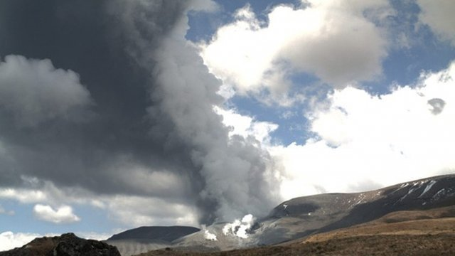 "The eruption of Te Maari Crater on Mount Tongariro situated in the central area of New Zealand""s North Island"
