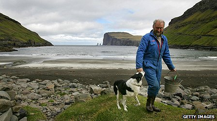 Farmer on the Faroe Islands