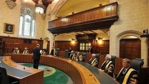 Lord Neuberger takes his judicial oath, as he is sworn in as the new President of the Supreme Court